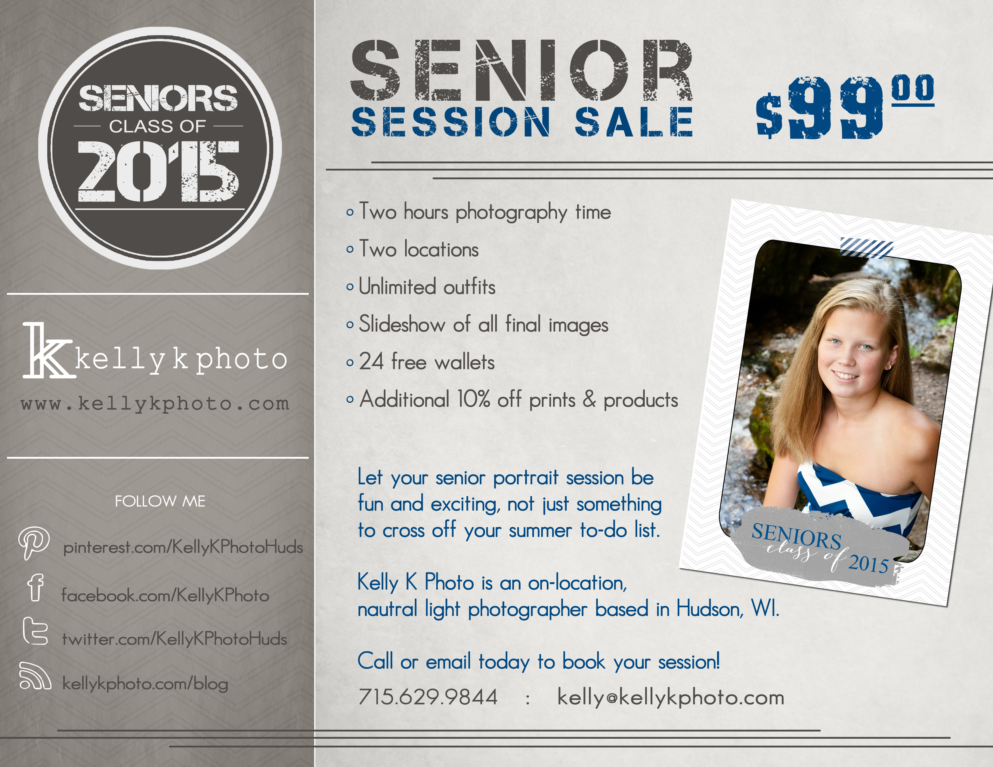 Kelly K Photo : Senior Session Sale : Class of 2015