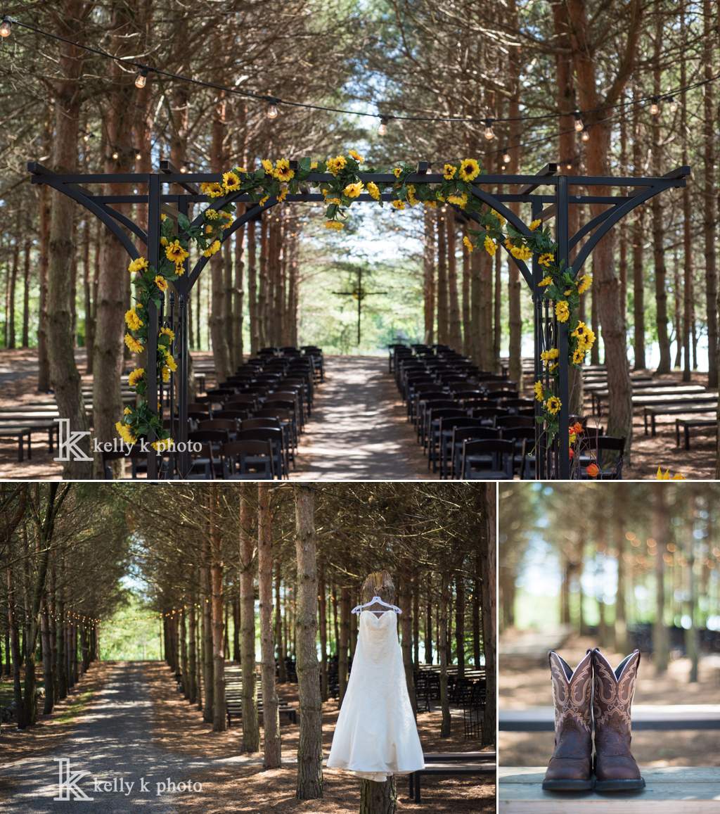 Venue Stonewall Farms Willmar MN Photography Kelly K Photo Caterer McKales Catering Flowers Brides Friend Hair Makeup Aunt Wedding Dress